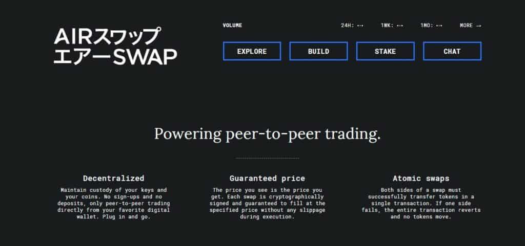 Airswap homepage