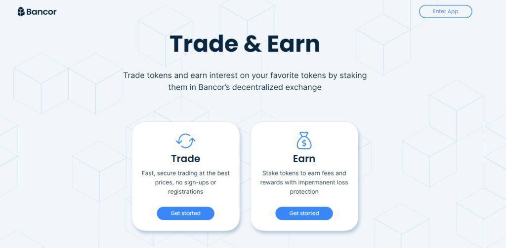 Bancor homepage