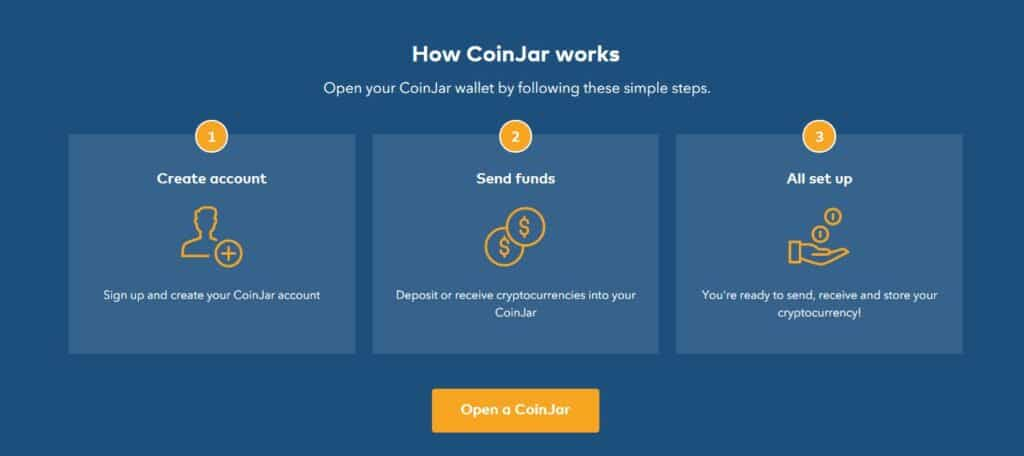 Coinjar how it works page