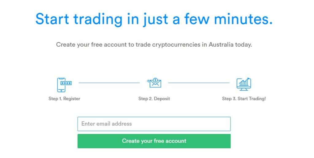 Coinspot set up account page
