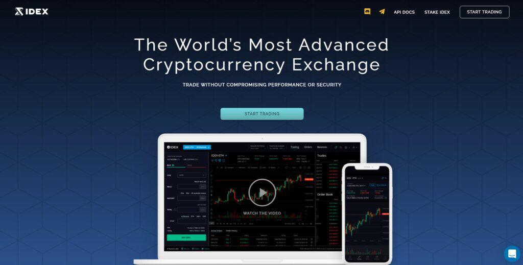 IDEX homepage