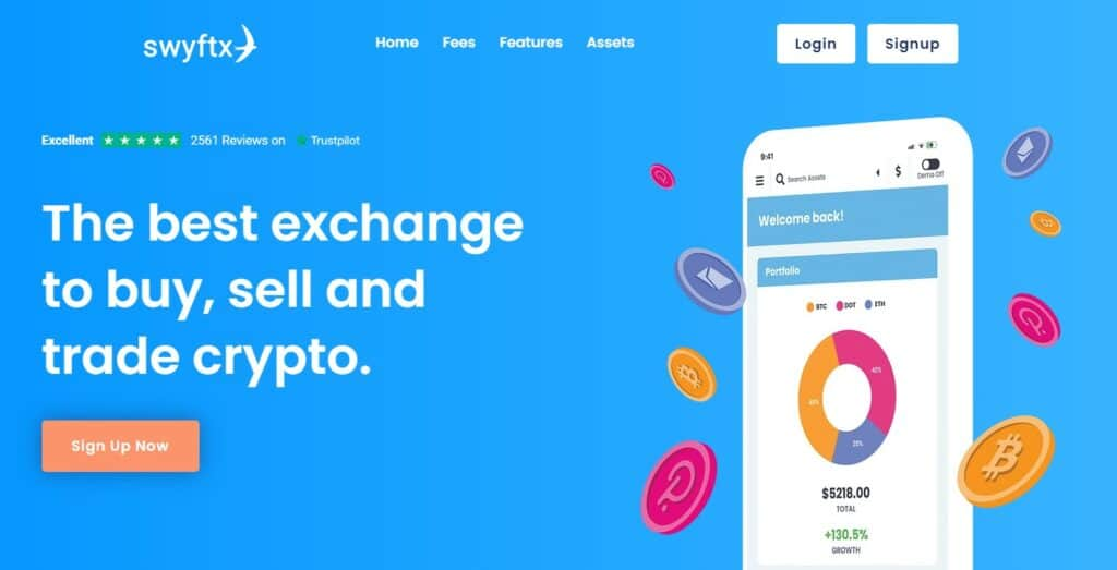 Swyftx home page