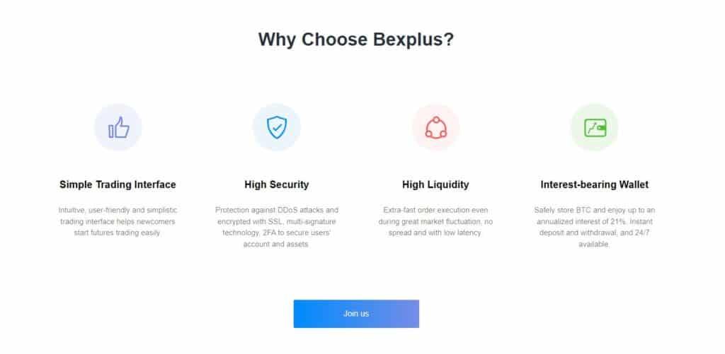 Bexplus exchange features