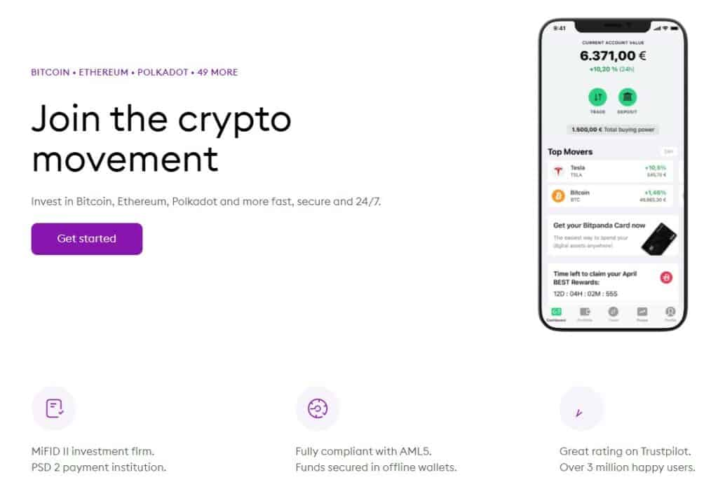 Bitpanda supported cryptocurrencies