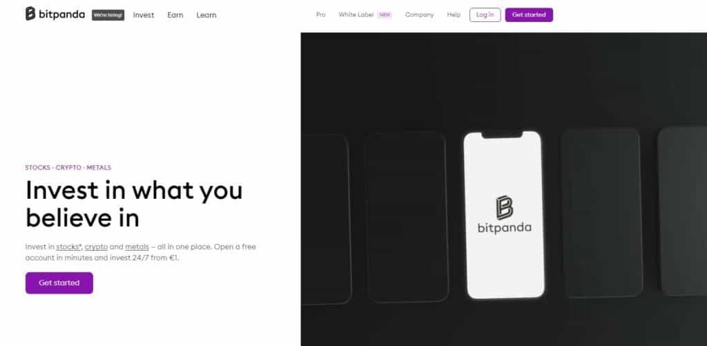 Bitpanda homepage