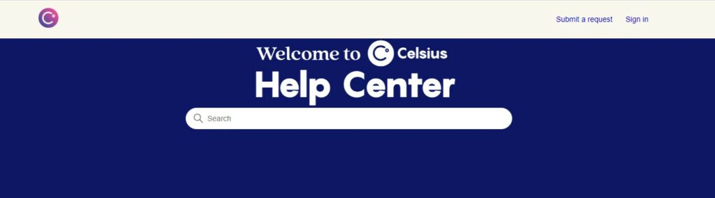 Celsius Network customer support