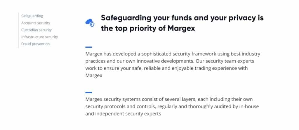 Margex security features