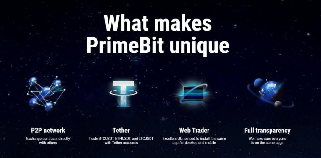 PrimeBit exchange features
