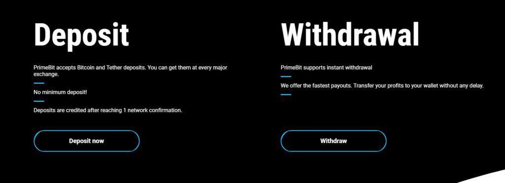 PrimeBit exchange fees