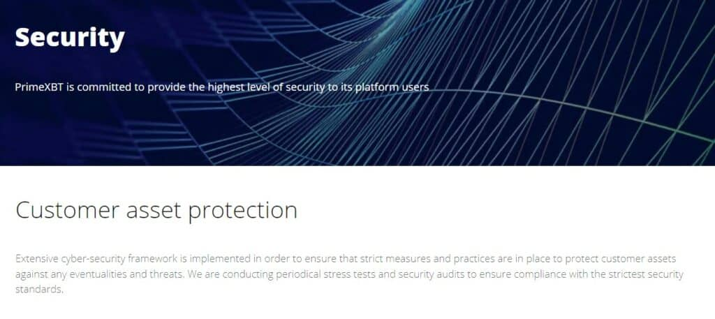 PrimeXBT security features