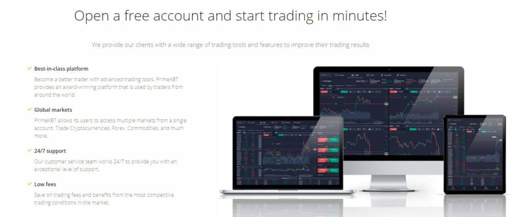 PrimeXBT trading features