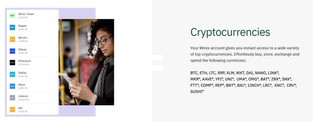 Wirex cryptocurrencies