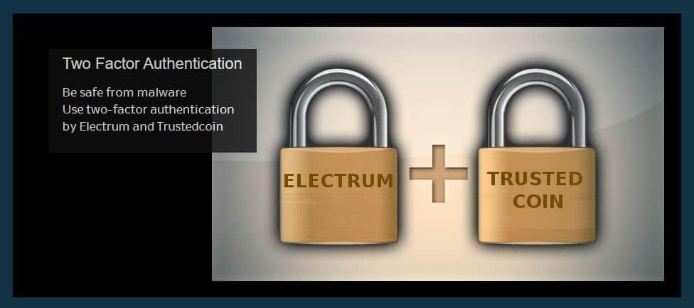 Electrum wallet 2-factor authentication