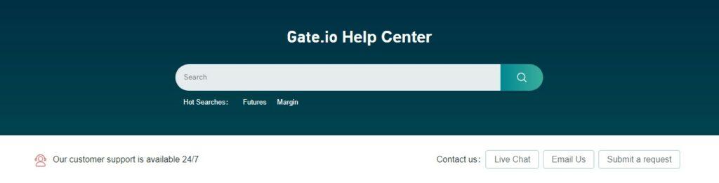 Gate.io customer support