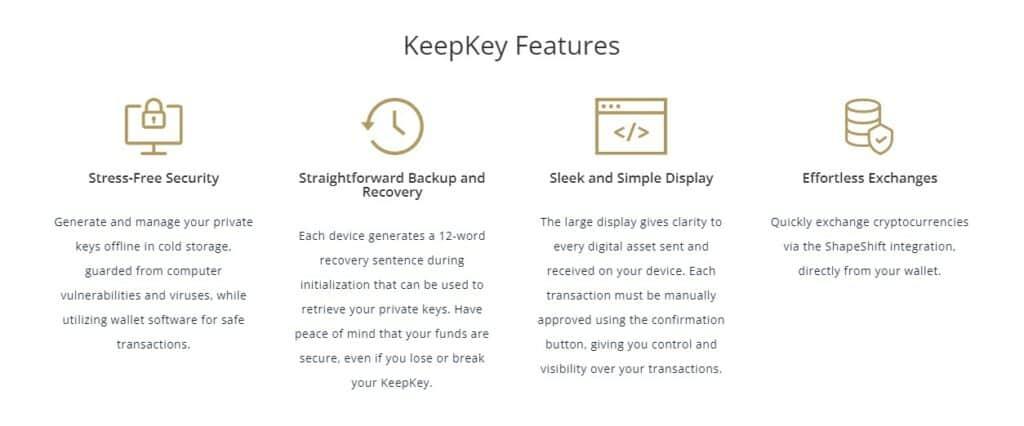 Keepkey wallet features