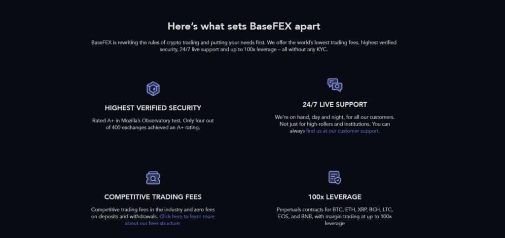 BaseFEX unique features
