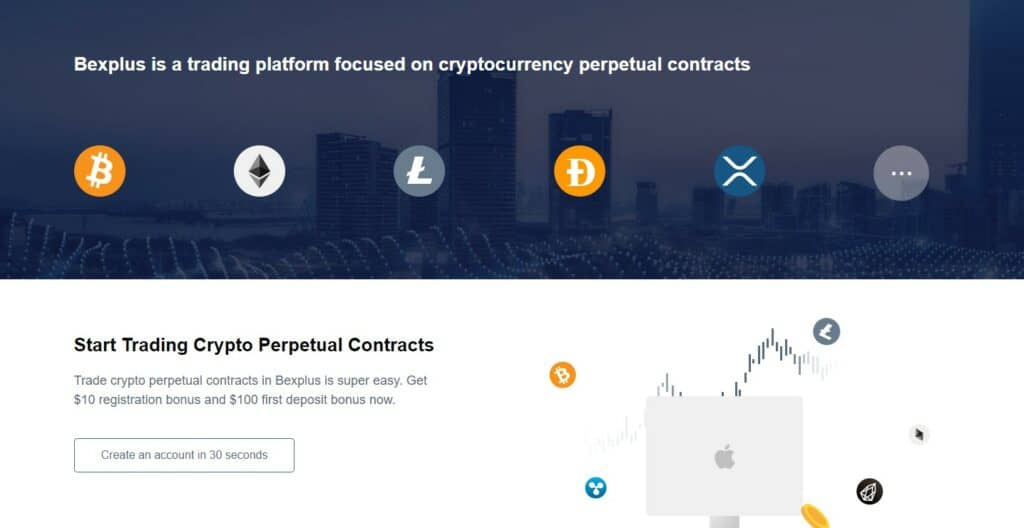 Bexplus perpetual contracts feature
