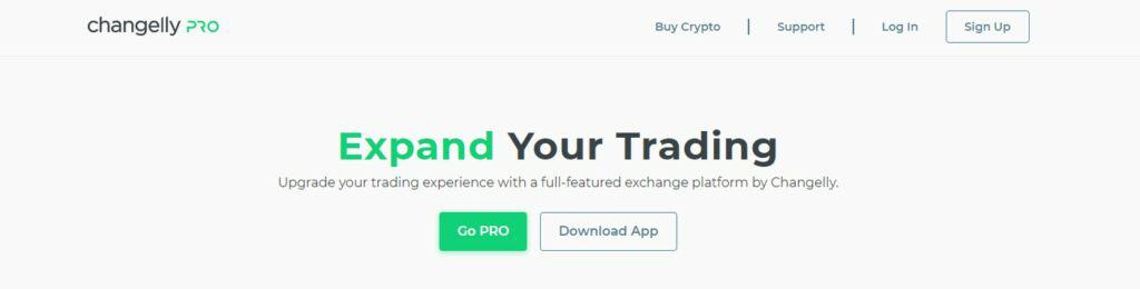 ChangellyPRO homepage