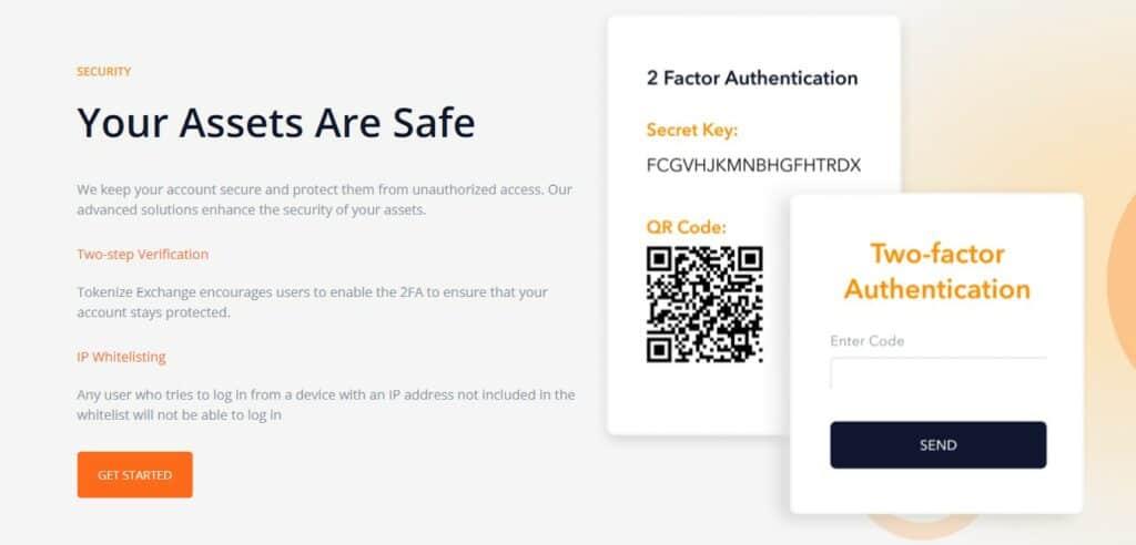 Tokenize exchange security features