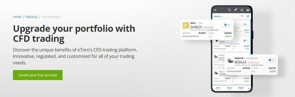 eToro CFD trading feature