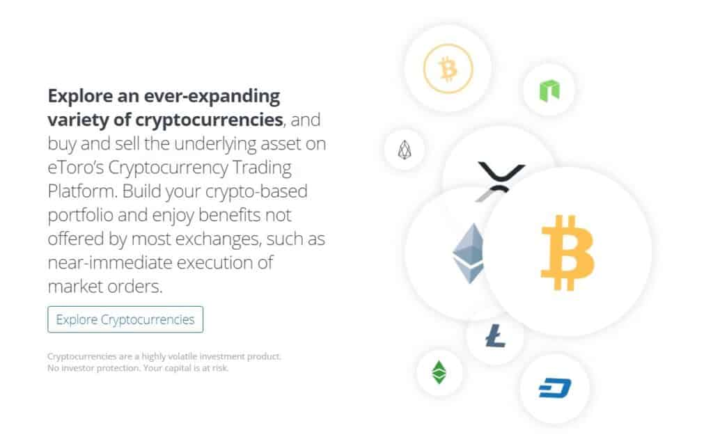eToro supported cryptocurrencies